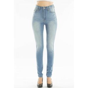 KanCan High Waist Washed Out Skinny Jeans NWT